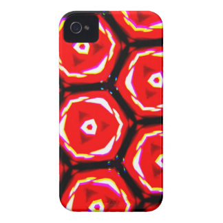 Red rose style honeycomb pattern Case-Mate iPhone 4 case