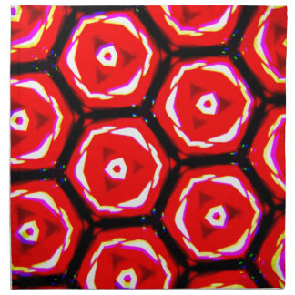Red rose style honeycomb pattern napkin