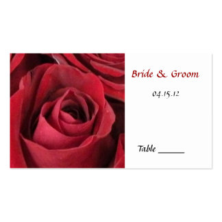 Red Rose Table Place Card Business Card Template