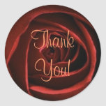 Red Rose THANK YOU Sticker