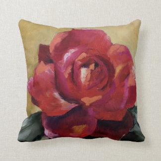 Red Rose toss pillow
