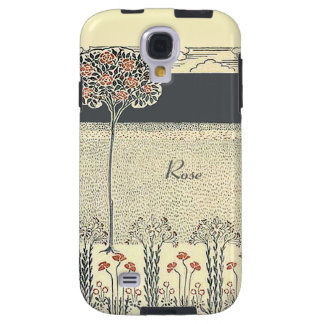 Red Rose Tree And Garden Vintage Galaxy S4 Galaxy S4 Case