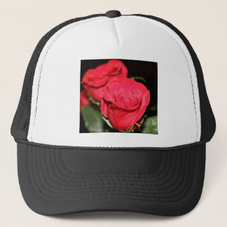 Red Rose Trucker Hat
