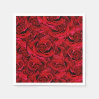 red rose wedding collage paper serviettes