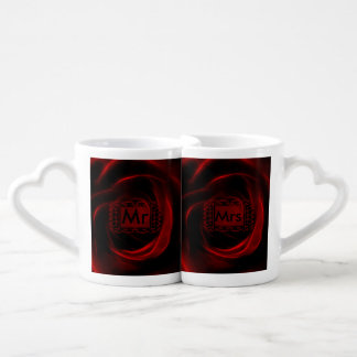 Red Rose wedding Couples Mug