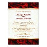 Red Rose - Wedding Invitation 13 Cm X 18 Cm Invitation Card
