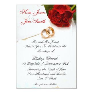 red rose wedding invitations