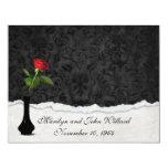 Red Rose Wedding Open House 11 Cm X 14 Cm Invitation Card