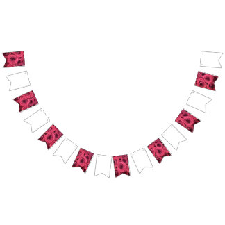 Red Rose Wedding/Party Bunting Bunting