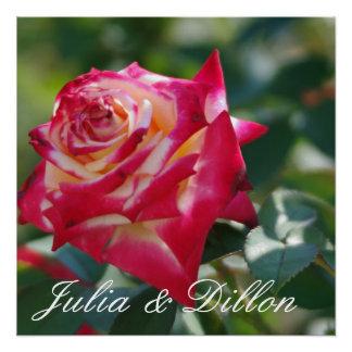 Red Rose Wedding Poster