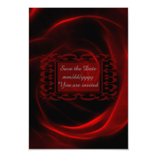 Red Rose wedding save the date 9 Cm X 13 Cm Invitation Card