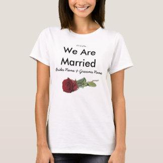 Red Rose Wedding Souvenirs Keepsakes Giveaways T-Shirt