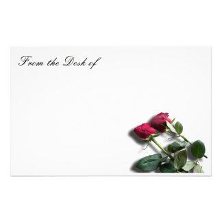 Red Rose White Stationary paper note paper