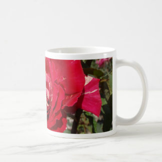 Red Rose With A Splash Of Cream Coffee Mug