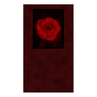 Red Rose. With Black and Deep Red. Business Card Template