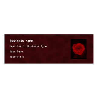 Red Rose. With Black and Deep Red. Business Cards