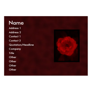 Red Rose. With Black and Deep Red. Pack Of Chubby Business Cards