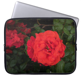Red rose with Raindrops Laptop Sleeve