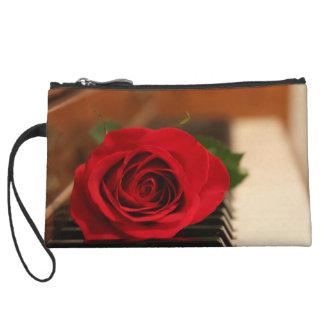 Red Rose Wristlet Purses