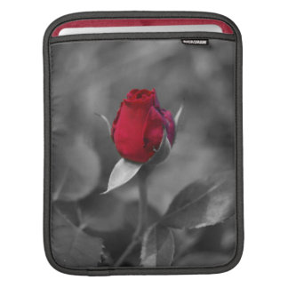 Red Rosebud iPad Sleeves