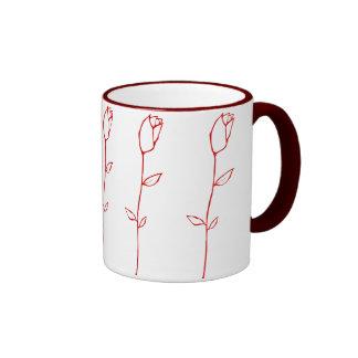 Red Rosebud Mug