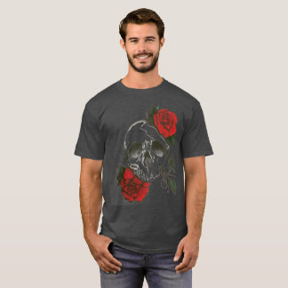 red rosed skull T-Shirt