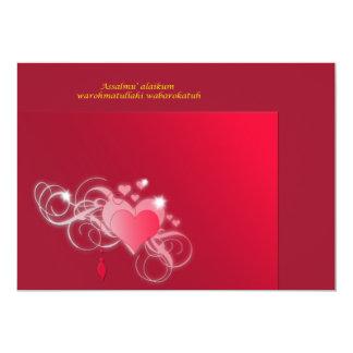 red roses 13 cm x 18 cm invitation card