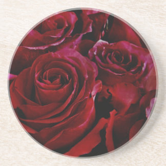 Red roses all around coaster