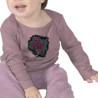 Red Roses and Angel Wings, Baby Clothes T-shirt