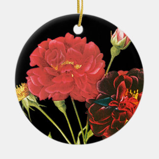 Red Roses and Bud Ornaments