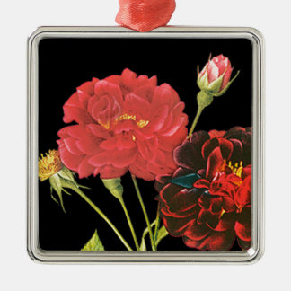 Red Roses and Bud Christmas Ornament