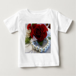 Red Roses and Pearls Baby T-Shirt