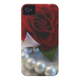 Red Roses and Pearls iPhone 4 Case-Mate Case