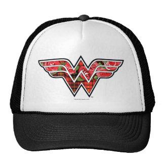 Red Roses and Plaid Wonder Woman Logo Cap