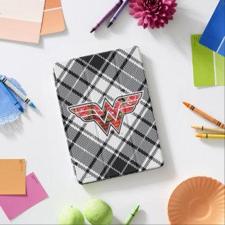 Red Roses and Plaid Wonder Woman Logo iPad Air Cover