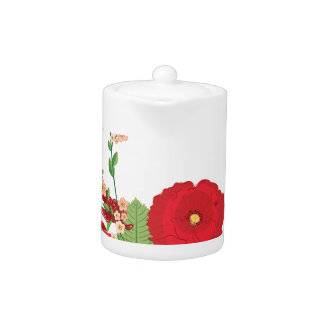 Red Roses and Poppies Ornament 2