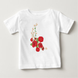 Red Roses and Poppies Ornament 2 Baby T-Shirt