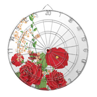 Red Roses and Poppies Ornament 2 Dartboard