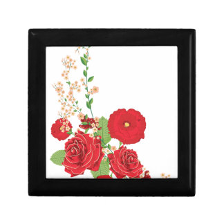 Red Roses and Poppies Ornament 2 Gift Box