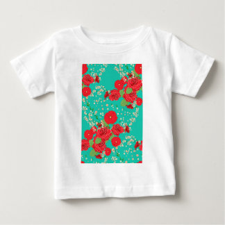 Red Roses and Poppies Ornament 3 Baby T-Shirt