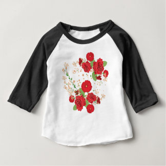 Red Roses and Poppies Ornament Baby T-Shirt