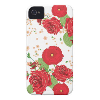 Red Roses and Poppies Ornament Case-Mate iPhone 4 Case