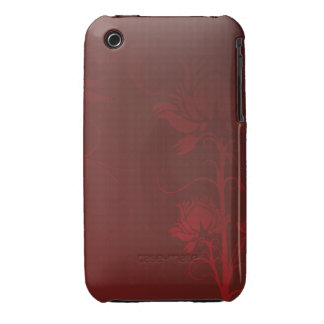 Red Roses and Swirls Case-Mate iPhone 3 Cases