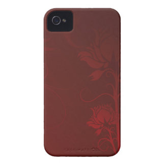 Red Roses and Swirls Case-Mate iPhone 4 Case