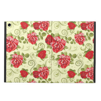 Red Roses Beige Background Case For iPad Air