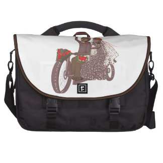 Red Roses Biker Wedding Cards bags Products Bag For Laptop