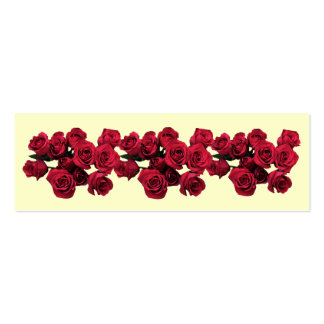 Red Roses Bookmark Business Card Templates