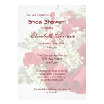 Red Roses Bouquet Bridal Shower Invitation