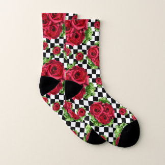 Red Roses Bouquet Floral Love Rockabilly 1