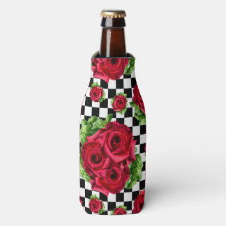 Red Roses Bouquet Floral Love Rockabilly Checkered